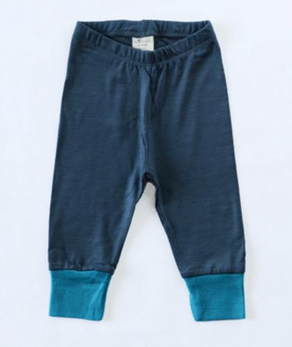 Wee Woollies Merino Pant - Charcoal Surf