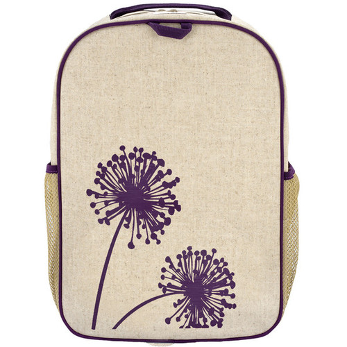 So Young Raw Linen Grade School Backpack - Dandelion