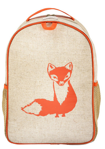 So Young Raw Linen Toddler Backpack - Fox