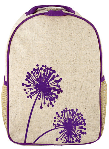So Young Raw Linen Toddler Backpack - Dandelion