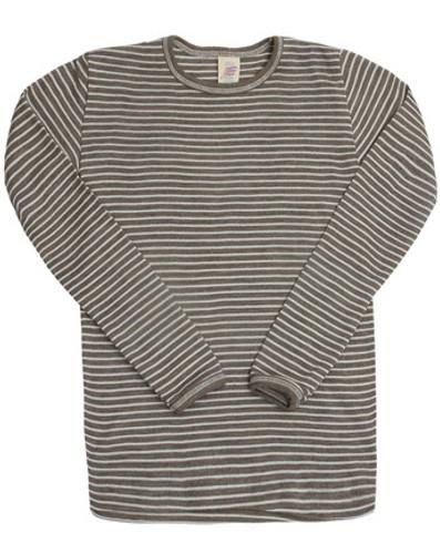 Engel Merino Wool/Silk Kids Shirt - Walnut/Natural