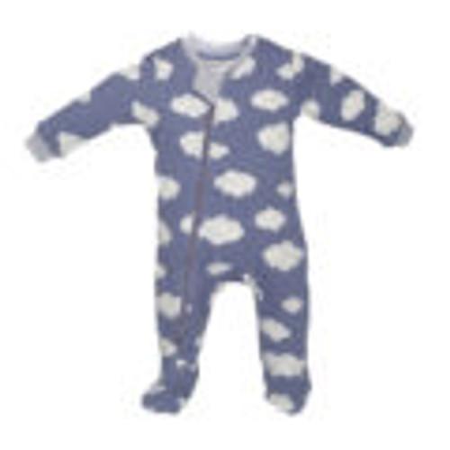 Zippyjamz Organic Cotton Pajamas - Clouds Blue