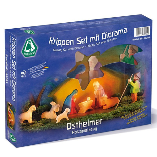 Ostheimer Nativity Set with Diorama 11 pc.