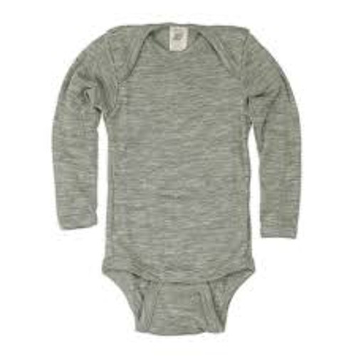 Engel Merino Wool/Silk Onesie Grey