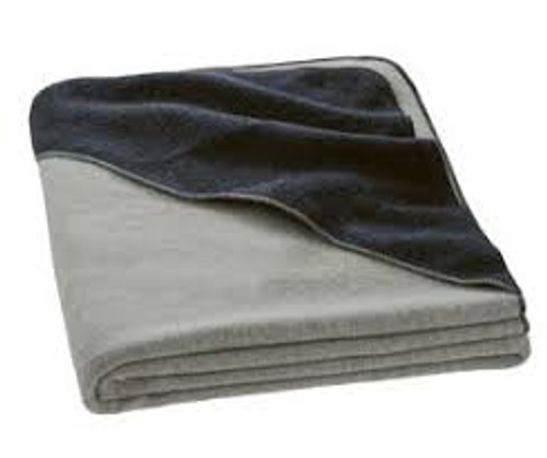 Disana Small Boiled Wool Blanket with Hood - Grey and Anthracite