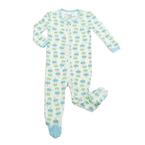 Silkberry Bamboo Footed Sleeper - Popsicle