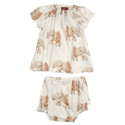 Milkbarn Bamboo Dress and Bloomer