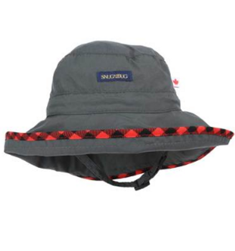 Snug As A Bug SPF 50 Adjustable Nylon Hat - Charcoal
