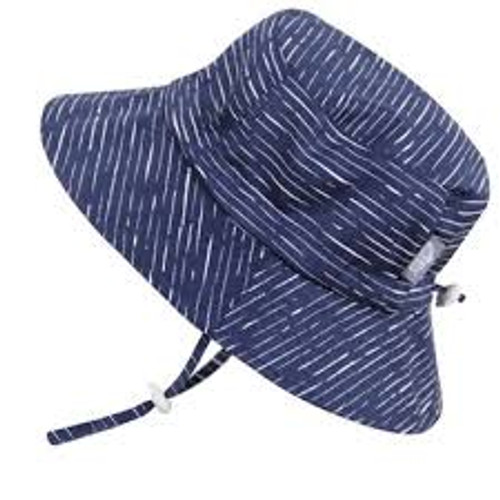 Twinklebelle Cotton Sun Hat - Navy Waves