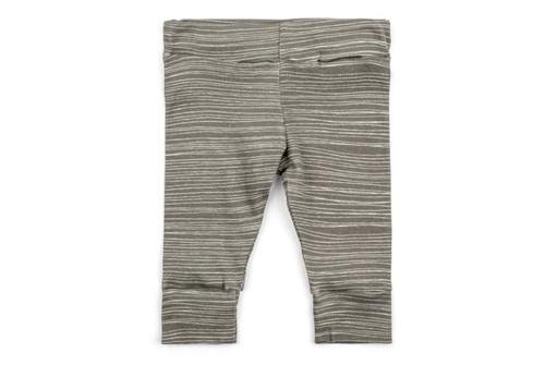 Milkbarn Organic Cotton Legging - Grey Stripe
