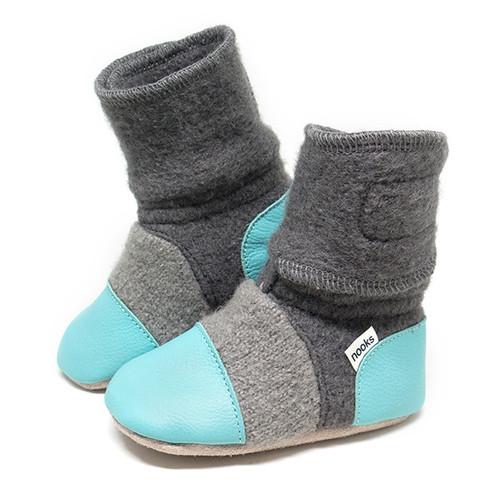 Nooks Wool Booties - Lagoon