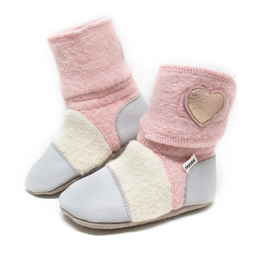 Nooks Wool Booties - Snowberry