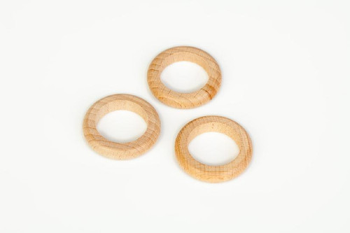 Grapat Wooden Rings Natural 3 pcs.