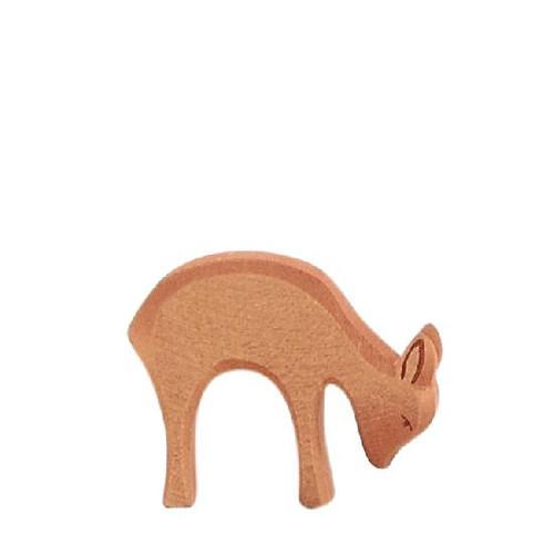 Ostheimer Wooden Deer Eating (Small)