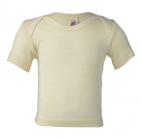 Engel Baby Short Sleeve Shirt Organic Merino Wool/Silk