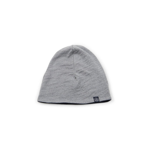 Luv Mother Merino Wool Toasty Toque - Solid Grey (reversible to navy)