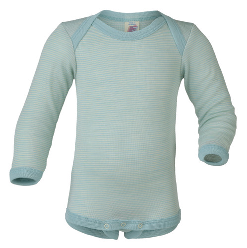 Engel Baby Onesie Organic Merino Wool/Silk - Glacier Natural (up to 3 yrs)