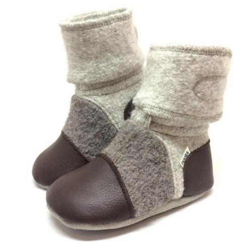 Nooks Wool Booties - Driftwood