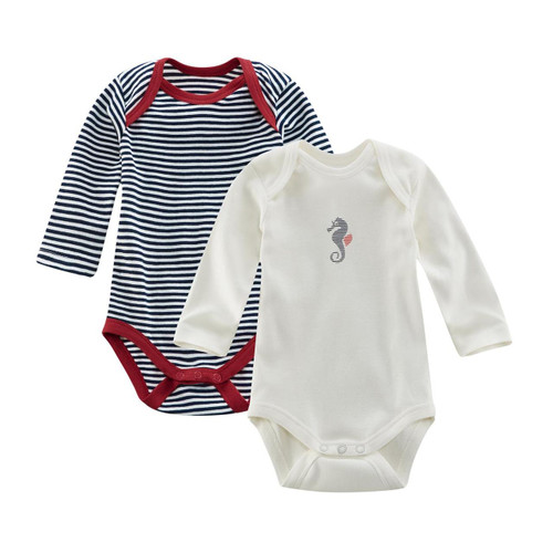 Living Crafts Organic Cotton Bodysuits Elm - Pack of 2