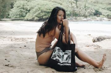 """Aloha Grown """"Palm"""" Tote Bag"""