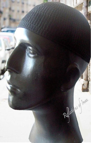 Just My... Men's Black Kufi