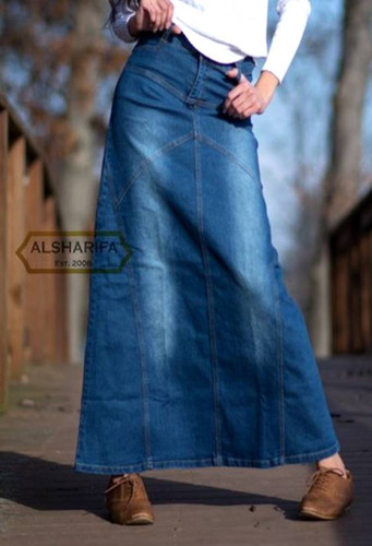 Alsharifa Long Denim Skirt