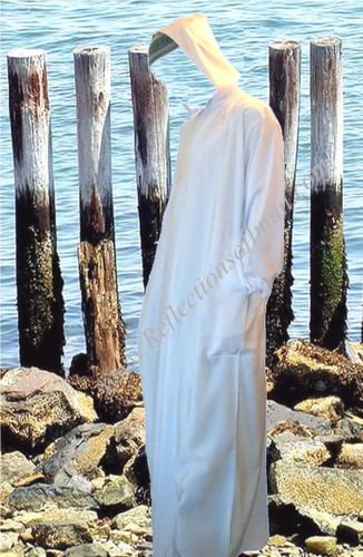 White Hooded Men's Thobe