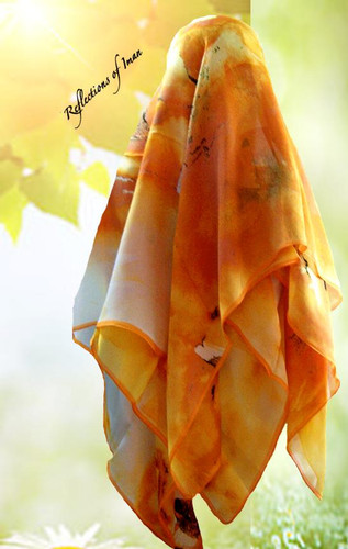 Sunset Silk Scarf Hijab