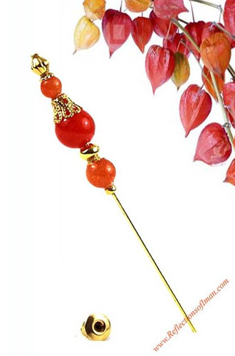 Sunset Tangerine  Hijab Pin
