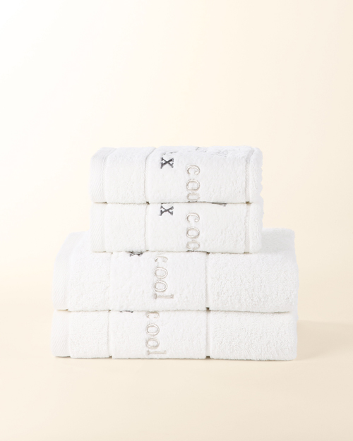 Cool Relax Design Embroidered Towel