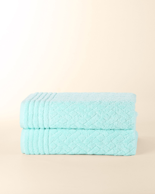 Samrot Checquered Embroidered Towels