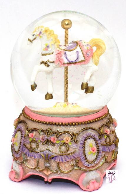 Large Waterball Musical Carousel