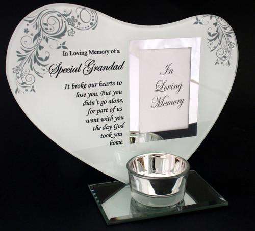 Grandad Tea Light Memorial Candle Holder