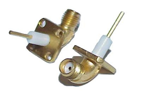 SMA-Female Swept Panel Mount Coaxial Connector