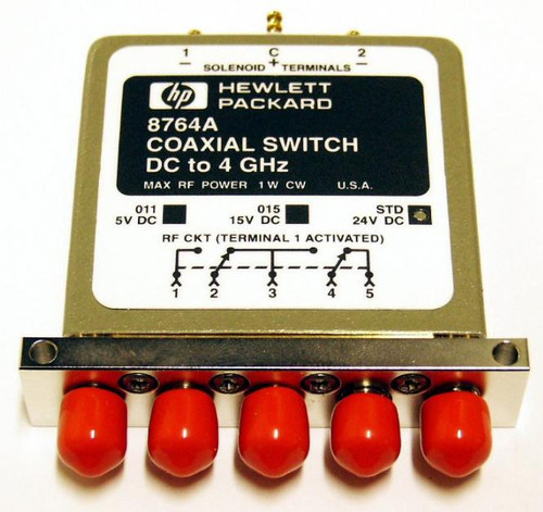HP-Agilent 8764A - 5-Port Coaxial Switch DC to 4 GHz SMA
