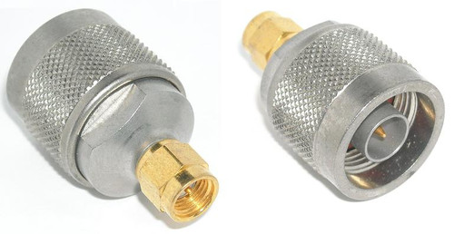 Mil-Spec Grade SMA-Male to N-Male Coaxial Adapter