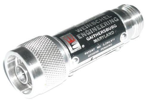 Weinschel Model 1-040 Coaxial Attenuator 40 dB