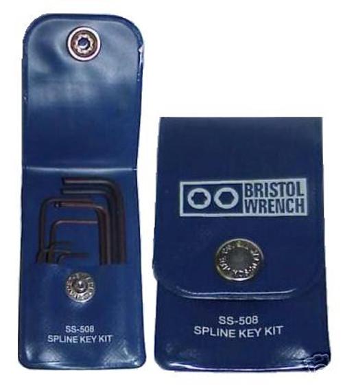 Bristol SS-508 Spline Key Wrench Set for Hallicrafters