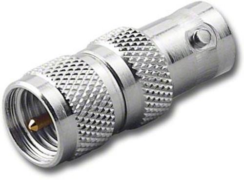 BNC-Female to Mini-UHF-Male Coaxial Adapter RFA-8322
