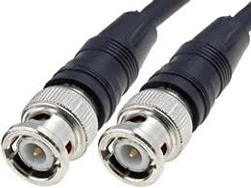 RG-58 Black Molded BNC Stranded Center Conductor Coaxial Cable 6FT