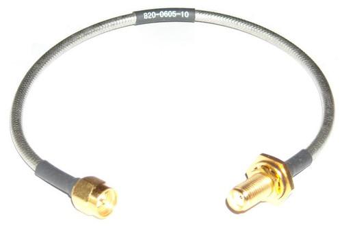 "10"" Long - SMA-Male to SMA-Female RG-402 Semiflex Coaxial Cable"