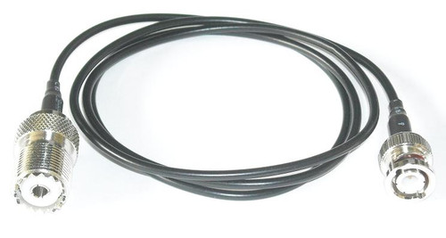 "10"" BNC Male SO-239 RG174 Coaxial Cable Pigtail"