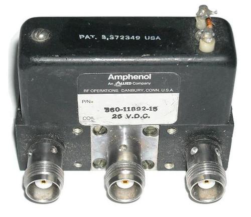 Amphenol TNC SPST Coaxial Switch 26VDC DC-6 GHz