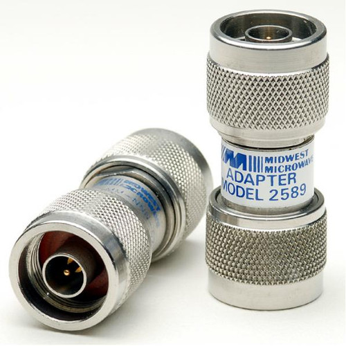 Midwest 2589 - Type N Male Barrel Coaxial Adapter Connector