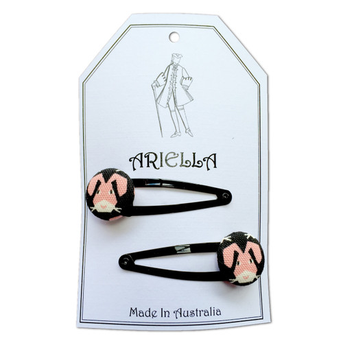 Ariella Pink Bunny Rabbit Hair Clips
