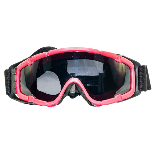 AIRSOFT GOGGLES W/FAN PINK/BLACK
