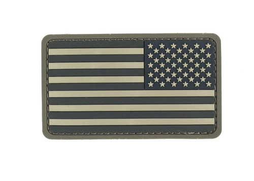 US FLAG REVERSED PVC ACU PATCH