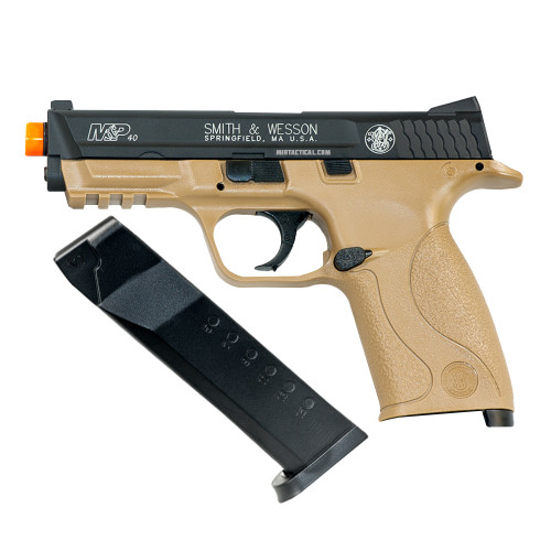 SW MP CO2 AIRSOFT PISTOL TAN/BLACK