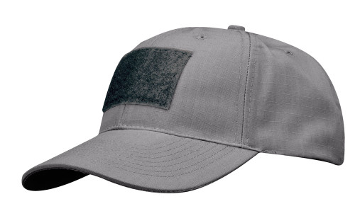 6 PANEL TACTICAL CAP W/LOOP GRAY