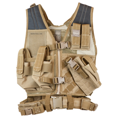 CROSSDRAW TACTICAL VEST YOUTH SIZE TAN